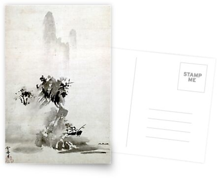 «Paisaje de Sesshu Toyo Haboku-Sansui» de pdgraphics