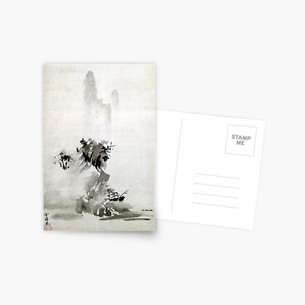 Paisaje de Sesshu Toyo Haboku-Sansui Postal