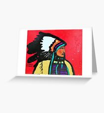 Chief Profile Greeting Card