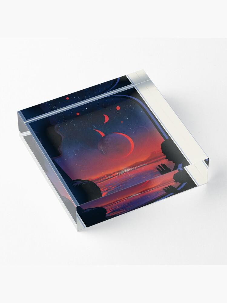 Alternative Ansicht von NASA JPL Exoplanet Reisebüro: TRAPPIST-1e Acrylblock