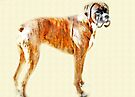 Boxer Stance  - Boxer Dogs Series by Evita