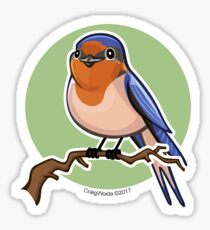 Barn Swallow over green background Sticker