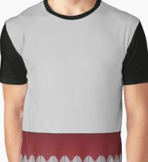 Pattern - Red & Gray Abstract Border Graphic T-Shirt
