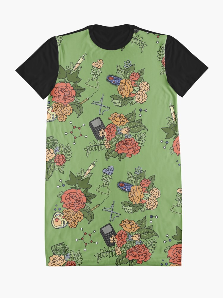 Alternate view of STEM floral pattern Graphic T-Shirt Dress