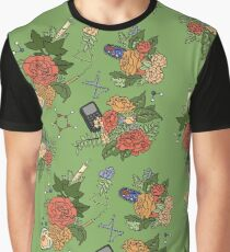 STEM floral pattern Graphic T-Shirt