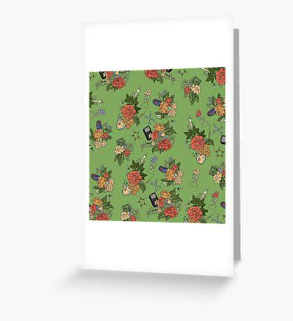 STEM floral pattern Greeting Card
