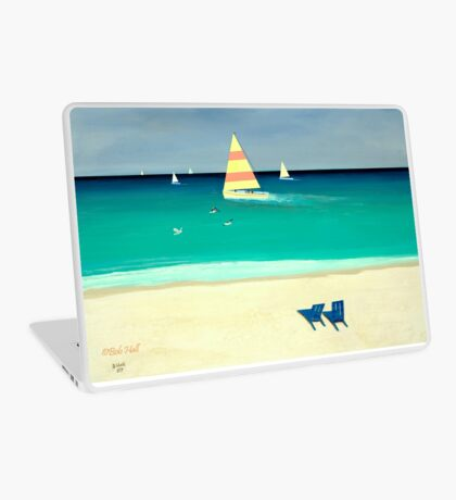 COASTAL CALM, Acrylic Painting, for prints and products Laptop Skin