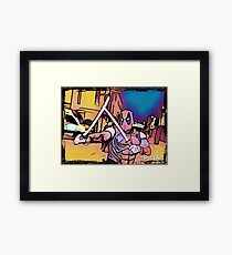 Superhero night Framed Print