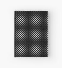 Black With Small White Polka Dots Hardcover Journal