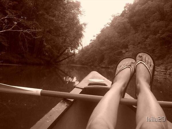 Feet on the River by leila29