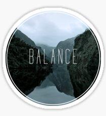 Balance: Mountains in Circle Sticker