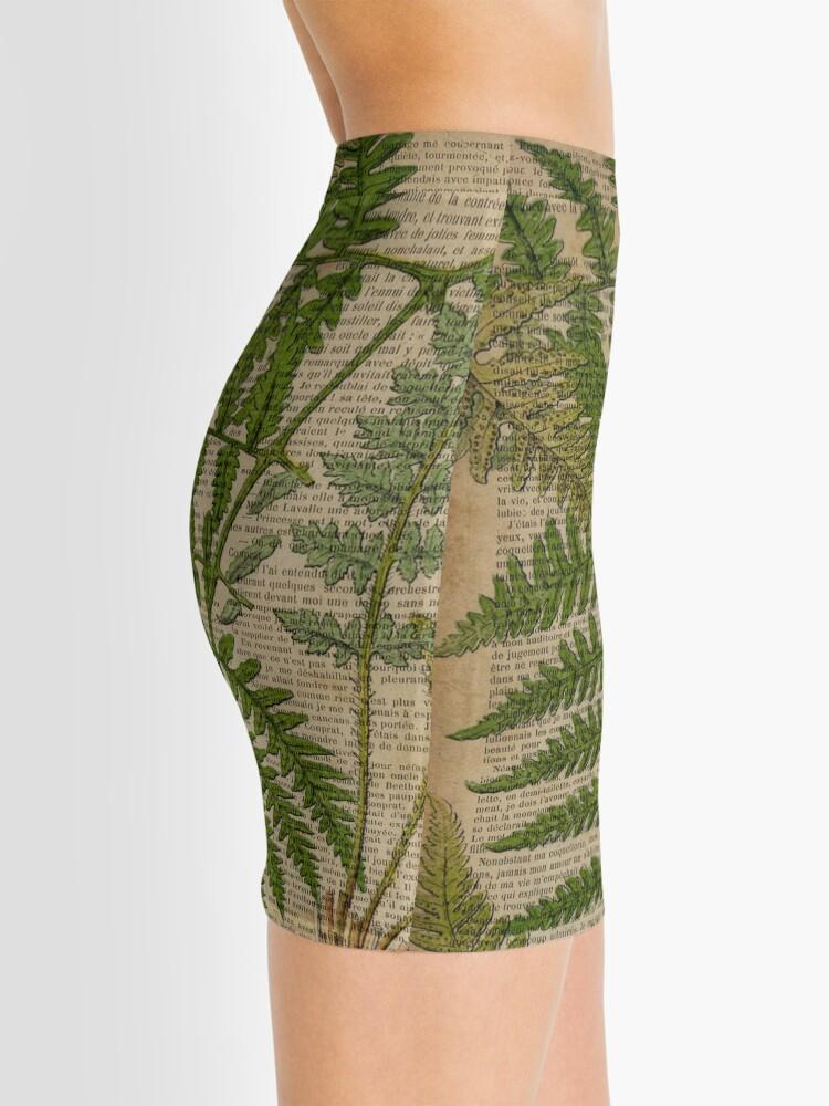 Alternate view of vintage foliage hipster botanical print fern leaves Mini Skirt