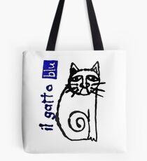 il gatto blu Tote Bag