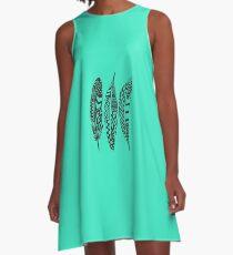 Boho Feathers A-Line Dress