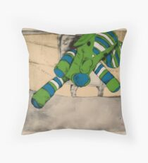 Flying Elephants Throw Pillow