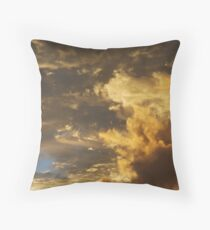 Brushed with gold Throw Pillow