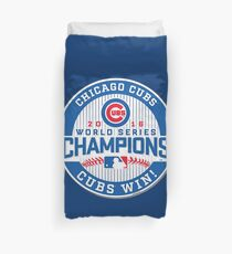 Chicago Cubs World Series Champion 2016 Duvet Cover