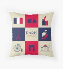 City Of Paris European France Throw Pillow