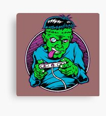 Zombie geek Canvas Print