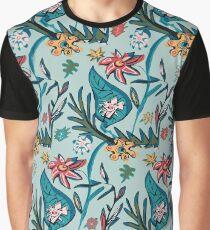 Vintage aqua floral Graphic T-Shirt