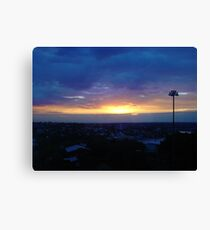 Sunset from Shangri-la (final) Canvas Print