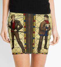 Arthur & Merlin stained glass Mini Skirt