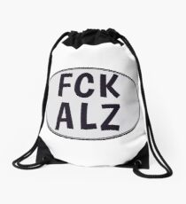 FCK ALZ Oval in Grey Drawstring Bag