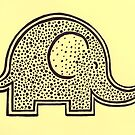 Yellow Polka Dot Elephant by CaileyB