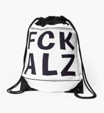 FCK ALZ in Grey  Drawstring Bag