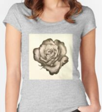 Rimmed rose sketch Women's Fitted Scoop T-Shirt