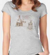 Dalek vs Tardis Birthday Cake  Women's Fitted Scoop T-Shirt