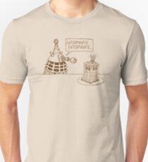 Dalek vs Tardis Birthday Cake  Unisex T-Shirt