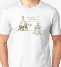 Dalek vs Tardis Birthday Cake  T-Shirt