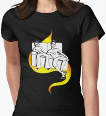 Procrastinate - flame drop Womens Fitted T-Shirt