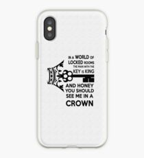 Moriarty Key Quote - Black Text iPhone Case