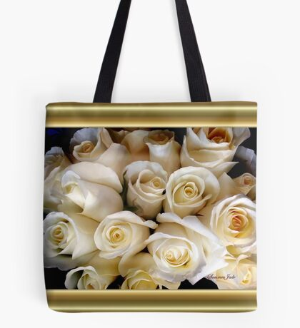Candle Light Bouquet ~ White Roses Tote Bag
