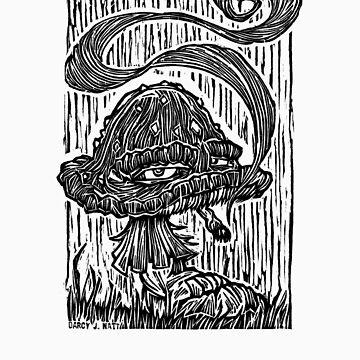 """""""Stoned Shroom"""" Woodcut  by darcyjwatt"""