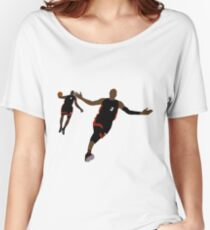 Dwyane Wade Lob To LeBron James Women's Relaxed Fit T-Shirt