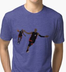 Dwyane Wade Lob To LeBron James Tri-blend T-Shirt