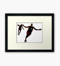 Dwyane Wade Lob To LeBron James Framed Print