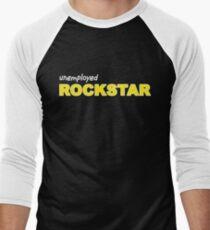 Unemployed Rockstar white Men's Baseball ¾ T-Shirt