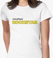 Unemployed Rockstar black Women's Fitted T-Shirt
