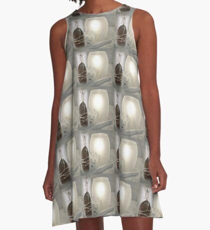 River Pebble Pendant A-Line Dress