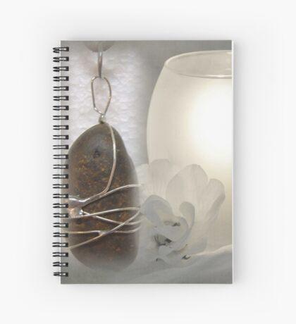 River Pebble Pendant Spiral Notebook