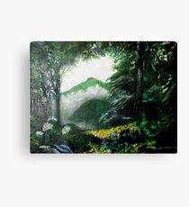 Mist on the Mountain Canvas Print