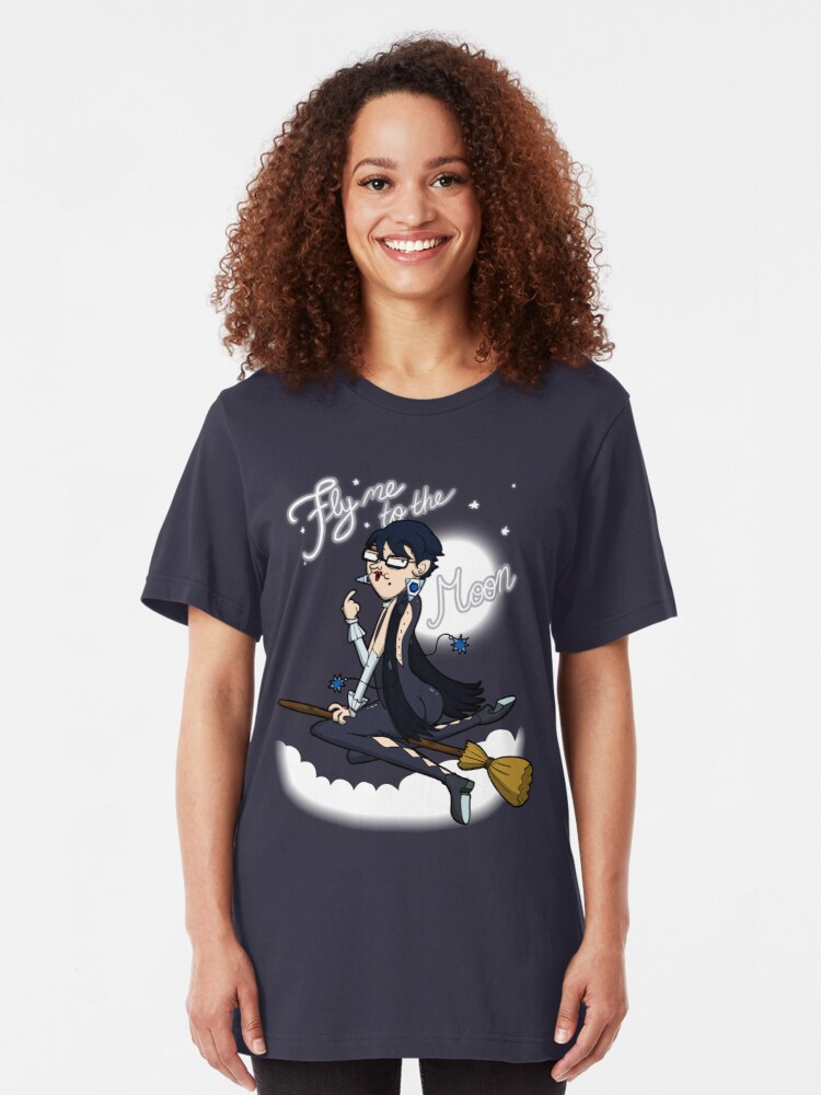 Alternate view of Fly me to the moon... Slim Fit T-Shirt