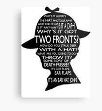 Sherlock's Hat Rant - Light Metal Print