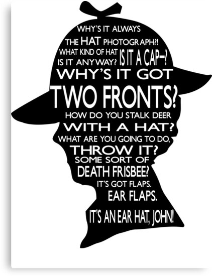 Sherlock's Hat Rant - Light by jlechuga