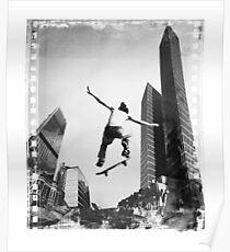 City Street Skateboard Skater Filmstrip, Poster