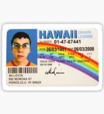 superbad id Sticker